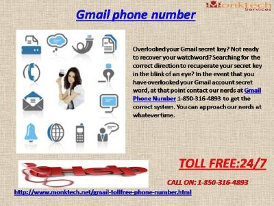 Beat the Critical Situations with Gmail Phone Number via 1-850-316-4893