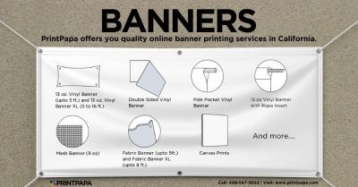 Appeal your audience with Banner Printing from PrintPapa