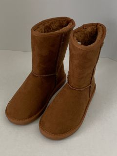Women's Mid Calf Classic Fur Lined Winter Boots, Size 7