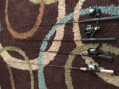Lot of 4 Fishing Rods and Reels