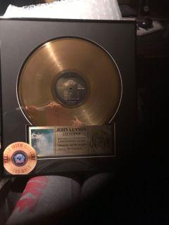 John Lennon limited edition gold album
