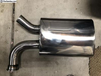 New Stainless Steel Hideaway Muffler (V-Band)