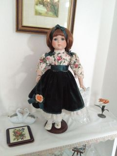 Porcelain Doll 18 with stand