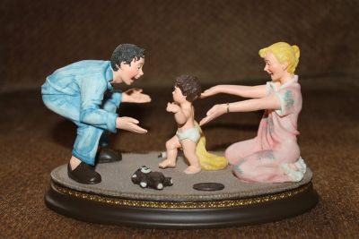 """Norman Rockwell """"Baby's First Steps"""" Sculpture"""