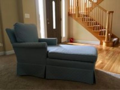 powder blue kid chaise lounge chair