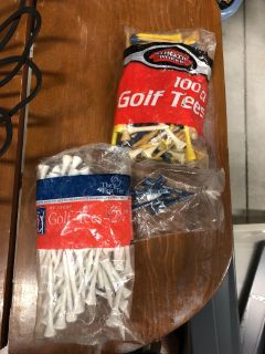 Approx 195 golf tees