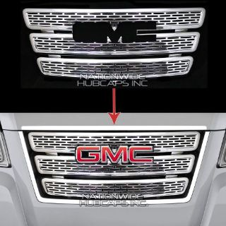 Find GMC TERRAIN CHROME Grille Overlay 3 Bar Grill Inserts Covers Denali Style NEW motorcycle in Syracuse, Utah, United States, for US $105.00