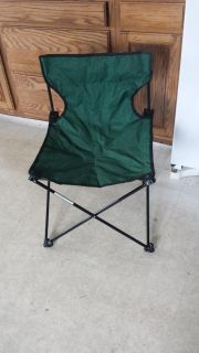 Folding Armless camp chair with carrying bag