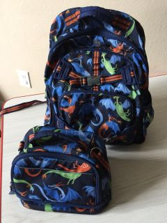 Large pottery barn kids backpack and lunchbox