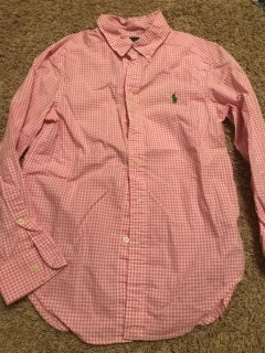 Ralph Lauren Polo - size S( pink and white