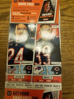 Chicago bears vs new England Patriots and buffalo preseason game in chicago