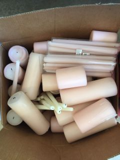 Blush Pillars and tapers
