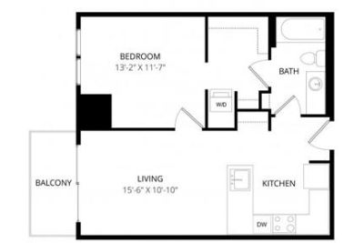 2 bedrooms Apartment - The Cor features studio. 2 Car Garage!