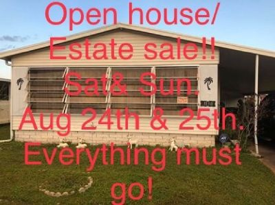 Mobile home for sale & Estate sale this Sat &Sun Aug 24 & 25th