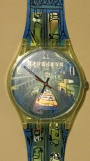 Large Wall Hanging Swatch Watch Brooklyn