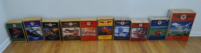 Large Lot (1-8, 11 & 12) Wings Of Texaco Die Cast Coin Banks
