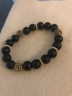 Gold zircon bracelet