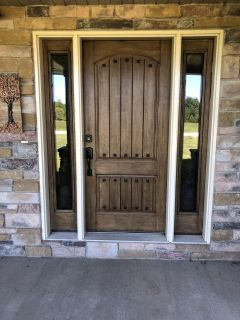 Classic-craft rustic collection Thermatru front entry door