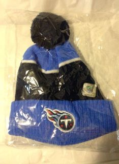 """NEW IN PACKAGE - """"OFFICIAL LICENSED NFL"""" """"TITANS"""" BEANIE CAP WITH TASSEL - GREAT GIFT MATCHES GLOVES IN DIFFERENT POST"""