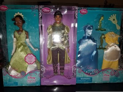 Disney Tiana and Naveen with EXTRA dresses