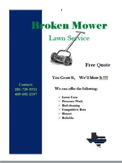 lawn care! Reliable!!!!!
