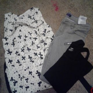 Girls lot jeans blouse and tank