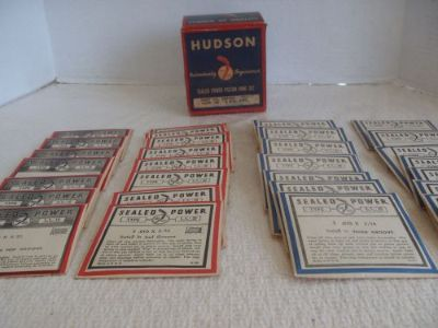 Find 1935-39 Hudson 8 Cylinder Automobile Car Sealed Power Piston Ring Set NOS motorcycle in Bridgewater, Massachusetts, United States, for US $55.00