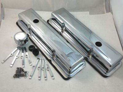 Find SB Chevy SBC Chrome Valve Cover Kit W/ Tall Valve Covers 283 305 307 327 350 V8 motorcycle in Chatsworth, California, United States, for US $47.99