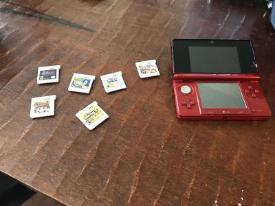 Nintendo 3ds and 6 games