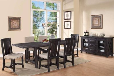 BRAND NEW! QUALITY LUXURIOUS DISTRESSED DESIGNER SOLID WOOD DINING SET