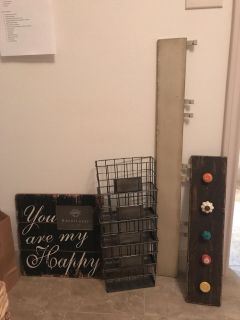 Picture Frame, Wall Baskets, Necklace Rack