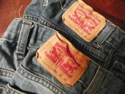 Pair Levis 505 Regular Adjustable waist jeans, size 10 regular