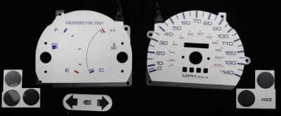 Sell 140MPH Indiglo Gauge Face Silver Reverse Overlay New For 1990-1994 Mazda Protege motorcycle in Monterey Park, California, United States, for US $24.99