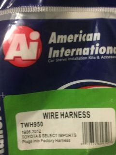 Purchase WIRING HARNESS ADAPTER PLUG FOR AFTERMARKET RADIO TWH950 AMERICAN INTERNATIONAL motorcycle in Miami, Florida, United States, for US $6.00