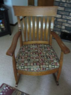 Oak antique rocker