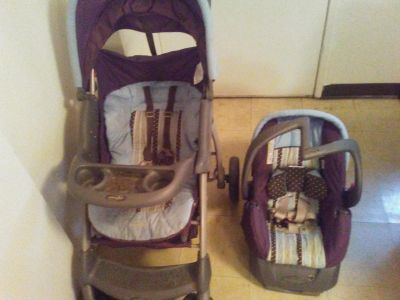 Evenflo car seat and stroller