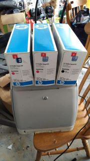 Hp color laser jet 1600 with unopened toners
