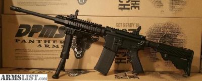 For Sale: DPMS Panther AR 15 with Quad Rail, Flip Up Sights, and Fore Grip Bi Pod