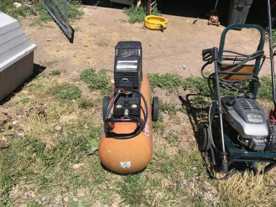 large wheeled air compressor
