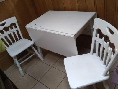 Real wood table and 2chairs 40.00