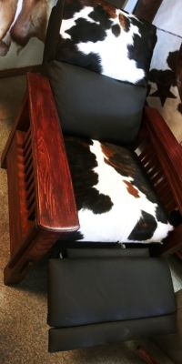 Gorgeous Cowhide Recliner