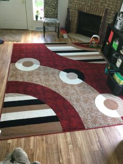 8 x 10 area rug with pad