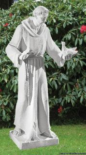 Saint Francis of Assisi Cement Statue Painted Life