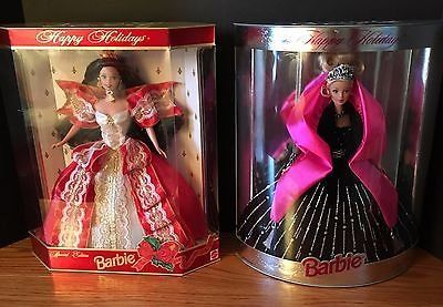 10th Anniversary 1997 and 1998 Happy Holidays Barbie - Special Edition NRFB