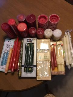 Taper and Pillar candles lot
