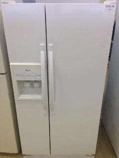$399.99, White Whirlpool Side by Side Refrigerator-i194