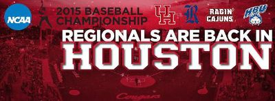 1-2 Rice Owls vs.  ULL Ragin Cajuns 1st Row Seats - 1pm Today June 1