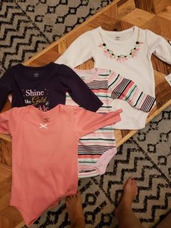 NWT lot of onesies 0-3 months