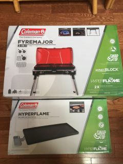 Coleman Hyperflame stove and griddle