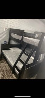 Twin/ full bunk bed with mattresses included